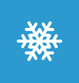 snowflake icon white on the blue background vector image vector image
