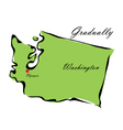 State of Washington vector image vector image