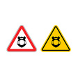 Stop police Warning sign cop Police badge Emblem vector image vector image