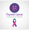 thyroid cancer awareness month icon vector image vector image