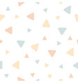 triangle seamless pastel color vector image vector image