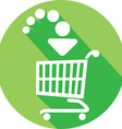 Trolley Icon vector image vector image