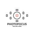viewfinder icon photo focus camera logo simple vector image