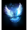 glowing blue dove vector image