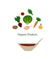 Organic food Organic products Organic vegetables vector image