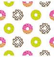 donuts sugar glazed seamless pattern vector image