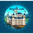 Fabulous medieval castle frame nature background vector image