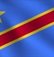 Democratic Republic Of The Congo flag vector image