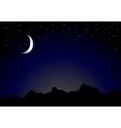 Dark moonlight night background vector image