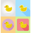 baby flat icons 09 vector image vector image