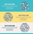 bathroom equipment concept in half circle vector image