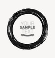 beautiful grunge circle vector image vector image