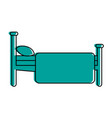 bed sideview icon image vector image vector image