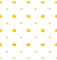 Big and small gold crown icons on white background vector image vector image