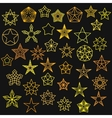 Big Set of Monoline Star Icons vector image vector image