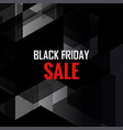 black friday sale polygonal background shopping vector image vector image