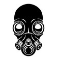 black gas mask sign vector image vector image