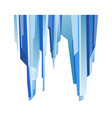 blue transparent uneven ice glacier piece isolated vector image vector image