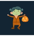 Boy In Frankenstein Haloween Disguise vector image vector image