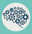 Brain build out of cogs and gears vector image