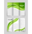 Brochure with wave vector image vector image