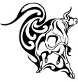 bull in tribal style - image vector image vector image