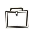 business portfolio suitcase document paper image vector image vector image
