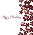 card with birthday flowers with burgundy vector image