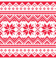 christmas seamless winter pattern vector image vector image