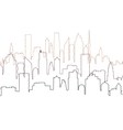 city view with skyscrapers cityscape silhouette vector image vector image