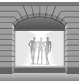Clothing Shop Boutique Store Front with Mannequins vector image vector image