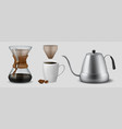 coffee brewing realistic glass flask for vector image