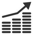 coins diagram flat icon vector image vector image
