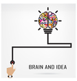 Creative brain Idea and light bulb concept vector image vector image