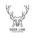 deer head outline logo vector image vector image