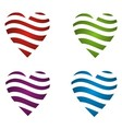 Dynamic Color Heart vector image vector image