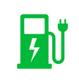 electric car power charging station vector image vector image