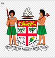 emblem of fij vector image vector image