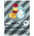 farm color isometric poster vector image
