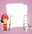 female painter with back vector image vector image