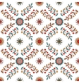Floral diamond ornament in Hungarian style vector image vector image