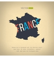 france map in vintage design French border vector image