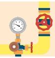 Gas pipeline under control vector image