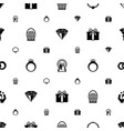 gift icons pattern seamless included editable vector image vector image