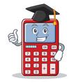 graduation cute calculator character cartoon vector image