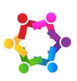 group team people unity logo vector image vector image