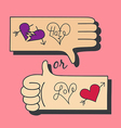 Hand Love and Hate vector image vector image