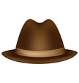 Headdress brown fedora vector image