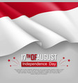 independence day of indonesia vector image vector image