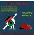 Info about the benefits of gymnastics for the eyes vector image vector image